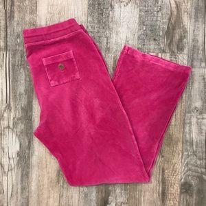 Lilly Pulitzer pink velvet velour pants